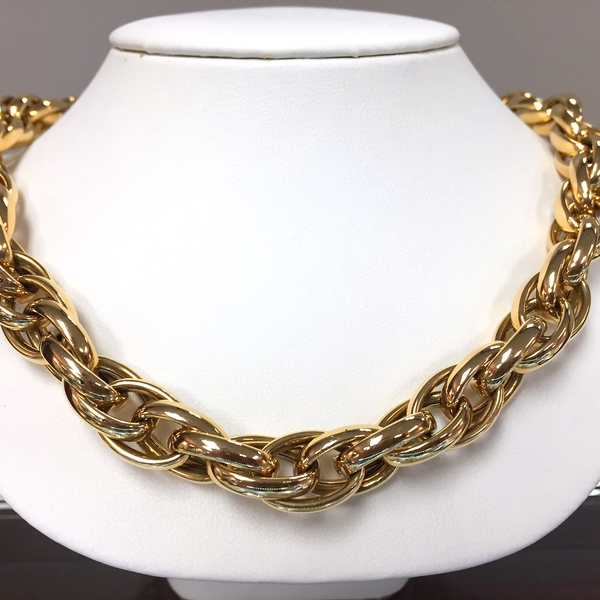 14k Italian yellow gold necklace