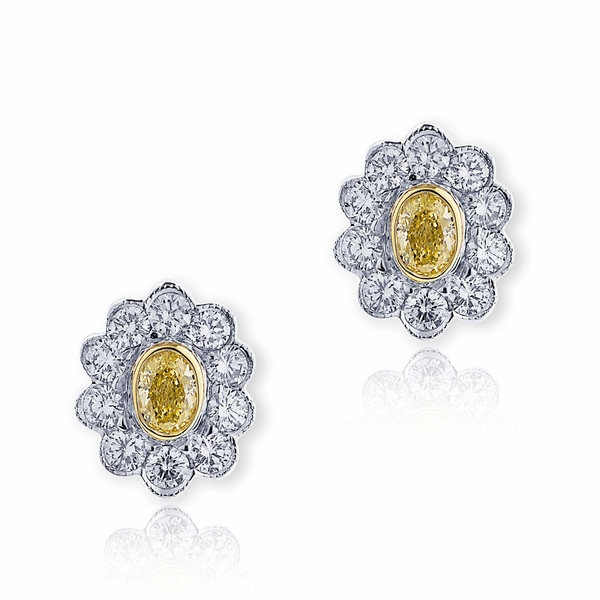 fancy yellow oval diamonds encircled with perfectly matching round diamonds..jpg
