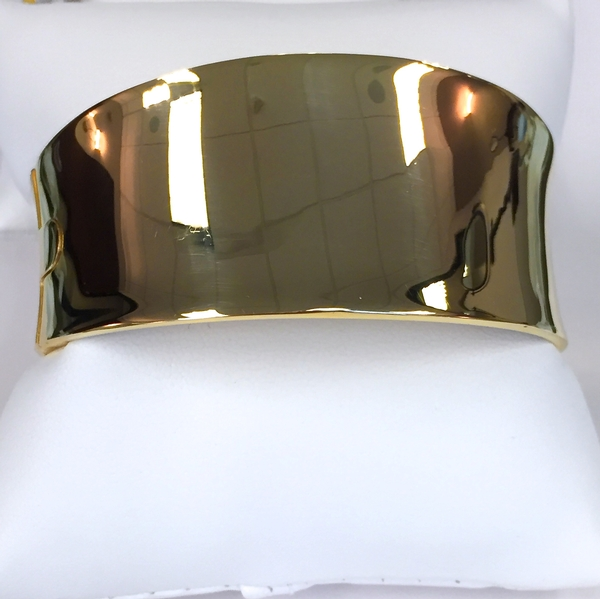 Italian gold wide bangle