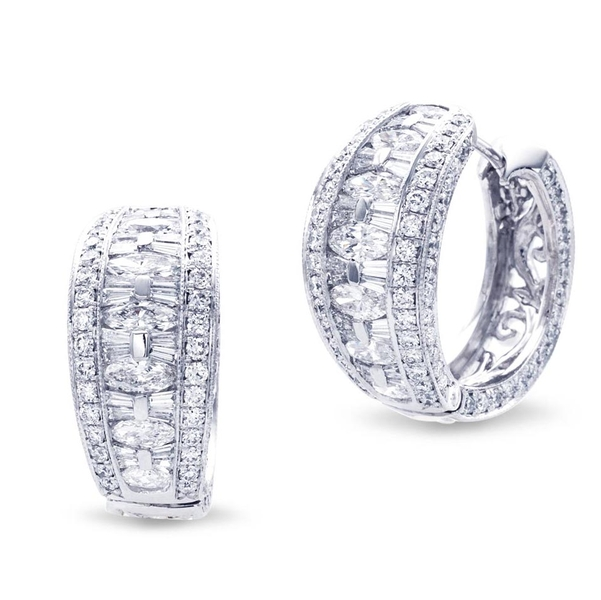 platinum and diamond hoop earrings featuring marquise, tapered baguette and round diamonds.jpg