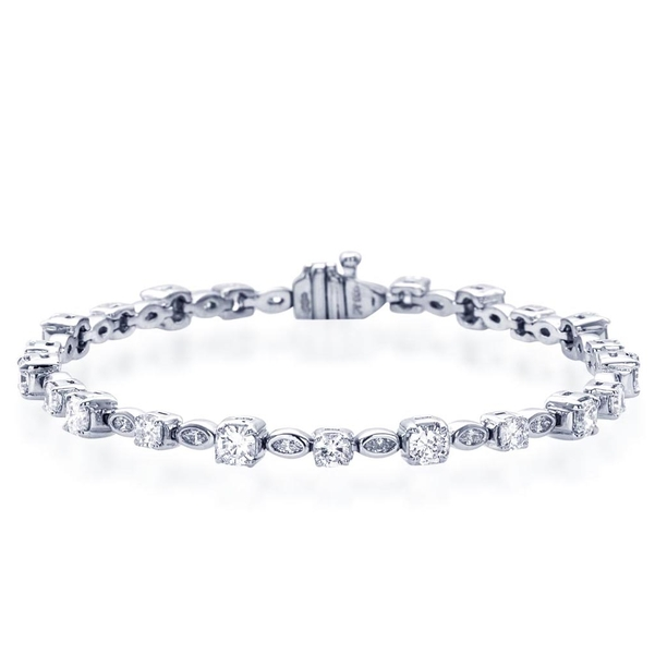 marquise and round diamond bracelet exquisitely handcrafted with 22 perfectly matched marquise and round diamonds.jpg