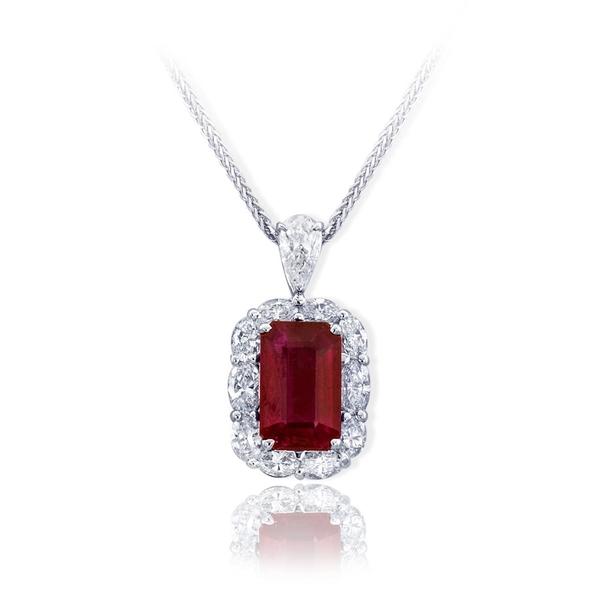 d52c21fc2a0b8 4.10 emerald Burma ruby halo diamond ring.jpg - Larry & Co Jewelry ...