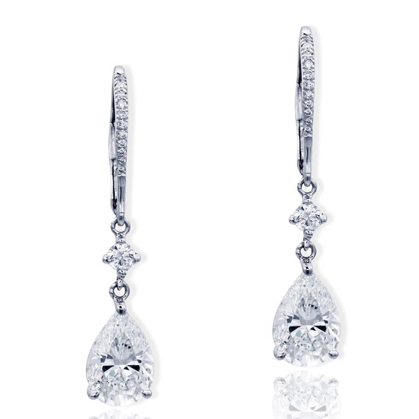 diamond drop earrings featuring 2.50 ct. GIA certified pear-shape diamond centers hung by round diamonds.jpg
