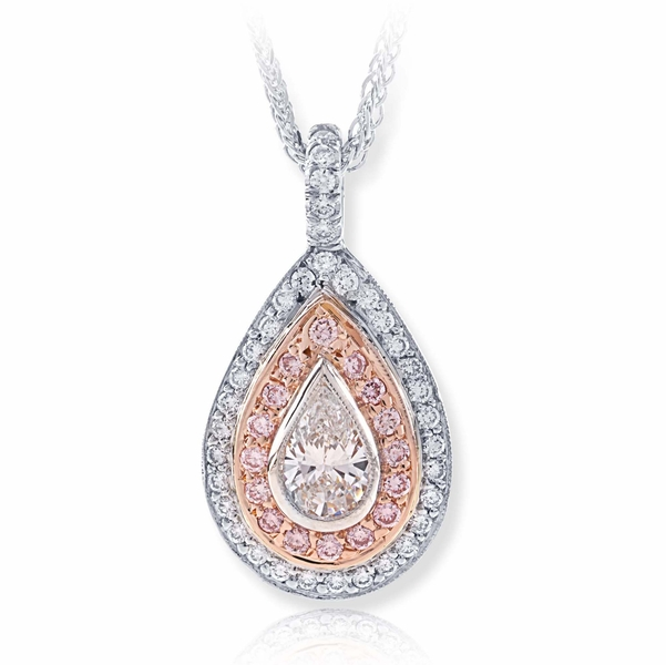 0.54 ct. certified pear shape diamond center surrounded by beautiful round pink and white diamonds.jpg
