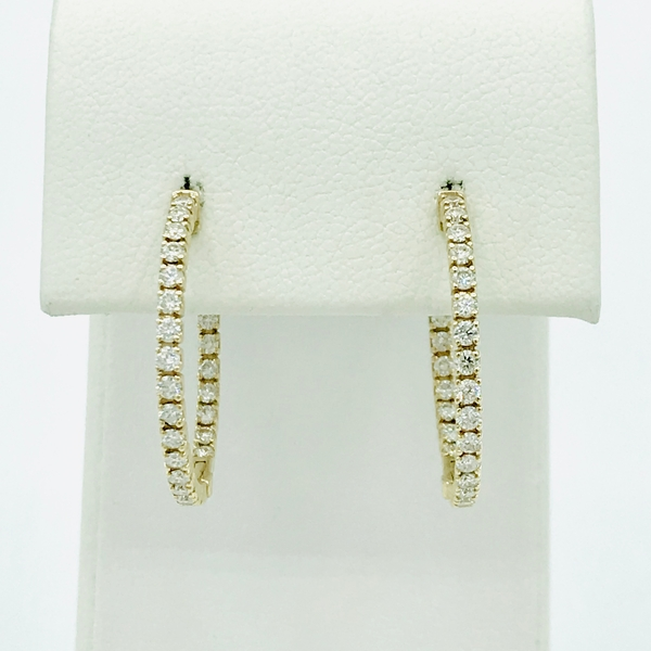 inside out yellow gold and diamond earrings